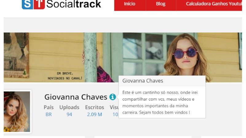 Pensando em agilizar o acesso a informações de um determinado canal, nós do Socialtrack agora disponibilizamos um recurso que permite visualizar a descrição de uma forma fácil.